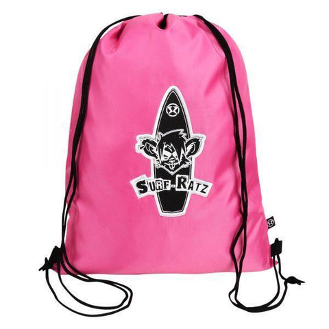 Surf Ratz Board Logo Drawstring Bag – Pink