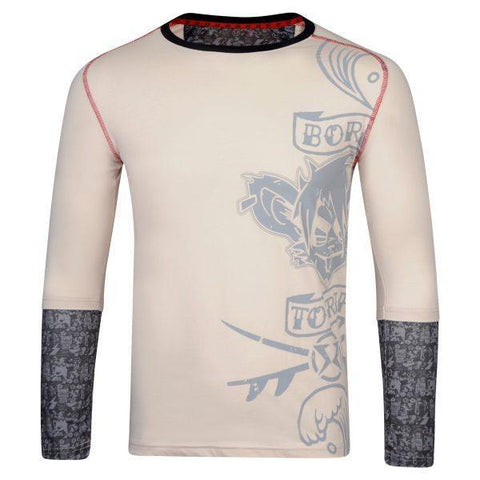 Surf Ratz Born To Rip Long Sleeved Overlay Tee (Adult) – Stone
