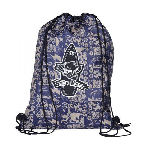 Surf Ratz SuperGrunge Drawstring Bag – Blue/Stone