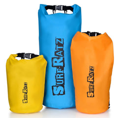 Surf Ratz Waterproof Duffle Bag, Orange 10L Capacity