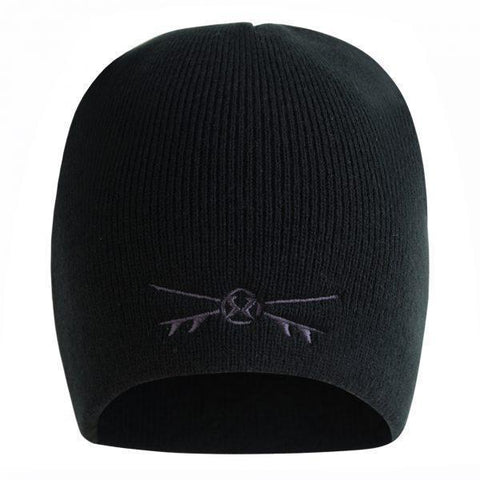 Surf Ratz X-Boards Rolled Down Beanie Hat – Black
