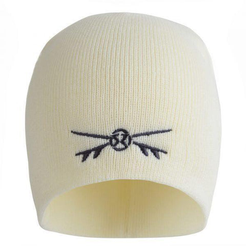 Surf Ratz X-Boards Rolled Down Beanie Hat – Cream