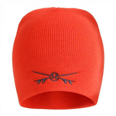 Surf Ratz X-Boards Rolled Down Beanie Hat – Red