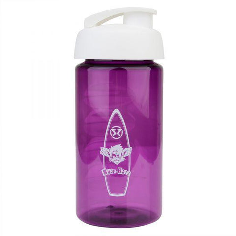 Surf Ratz Board Logo Kids Water Bottle – Translucent Purple