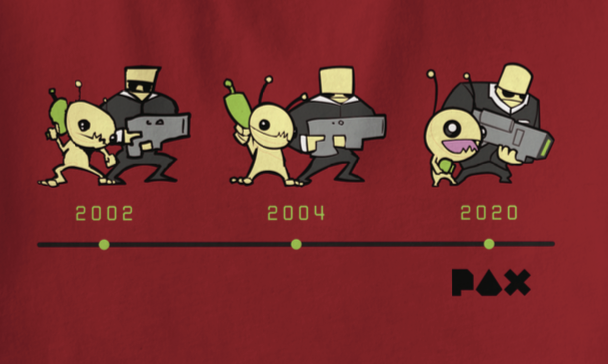 PAX East 2020 Alien Timeline Exclusive T-shirt