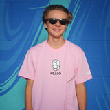 HELLO KNIGHT PINK T-SHIRT