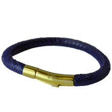 Laden Sie das Bild in den Galerie-Viewer, BLISS Armband Blau Gold