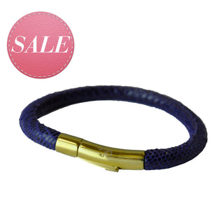 BLISS Armband Blau Gold