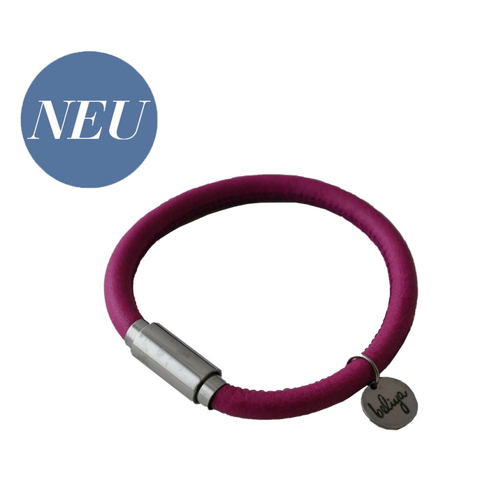 BLISS Armband Magenta Silber