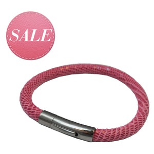 BLISS Armband Pink Silber