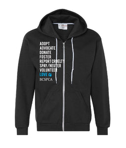 Adopt Advocate Donate - Unisex Zip up Hoodie