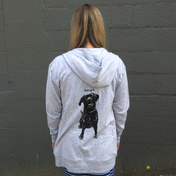 Adopt. Dog - Unisex Zip Up Hoodie
