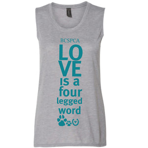 Love is a four legged word  - Tank Top
