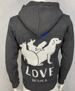 LOVE - Sherpa-Lined Cardigan
