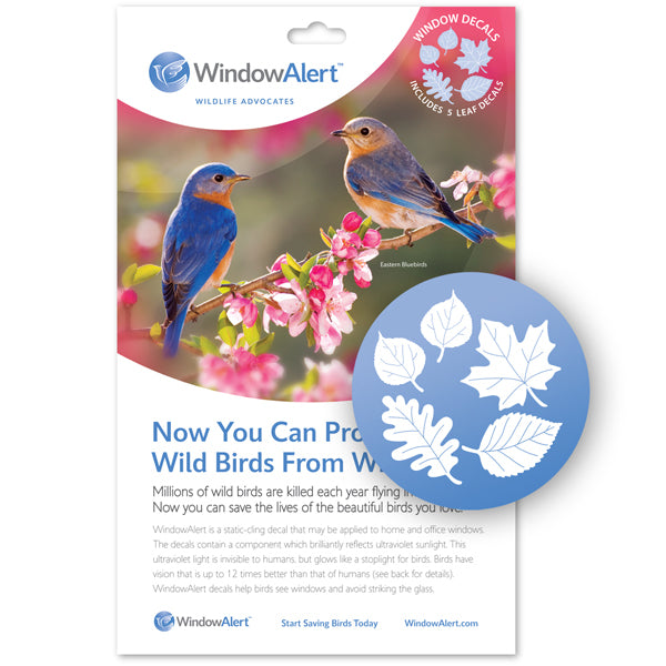 WindowAlert Bird Saver Window Decal - Leaf Medley