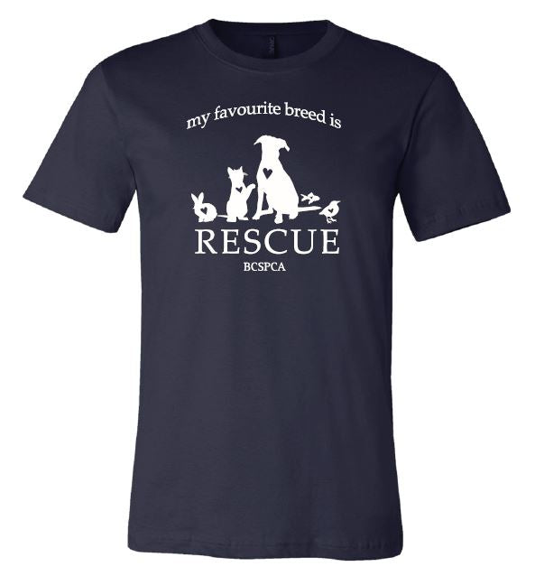 My Favourite Breed is Rescue - Unisex T-shirt