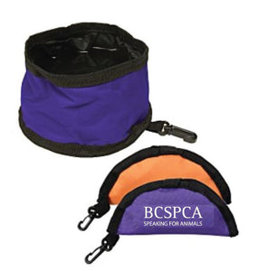 Pet Travel Bowl - Purple