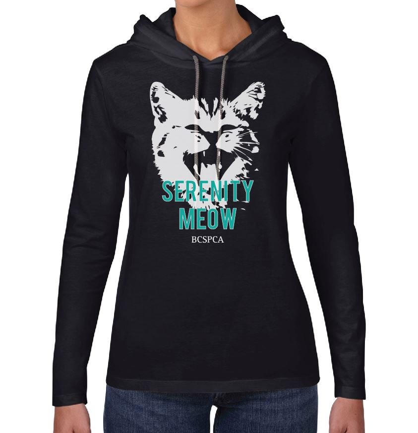 Serenity Meow - Long Sleeve Shirt with Hood