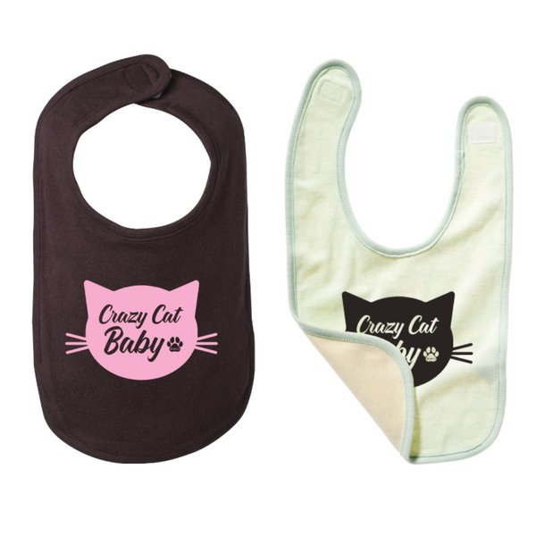 Crazy Cat Baby -  Bib