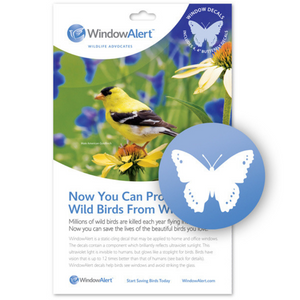 WindowAlert Bird Saver Window Decal - Butterfly