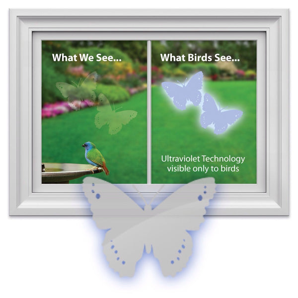 WindowAlert Bird Saver Window Decal ~ Butterfly