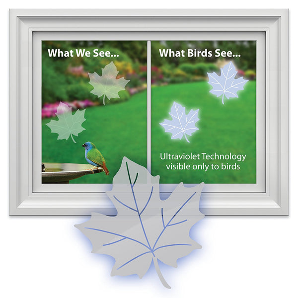 WindowAlert Bird Saver Window Decal ~ Maple Leaf