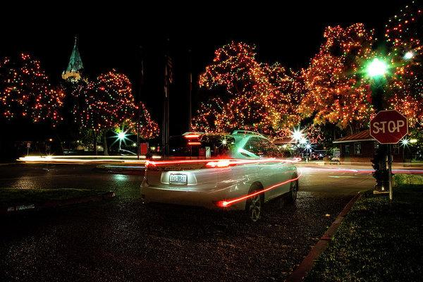 """Christmas Lights and Light Trails"" Prints and Products"