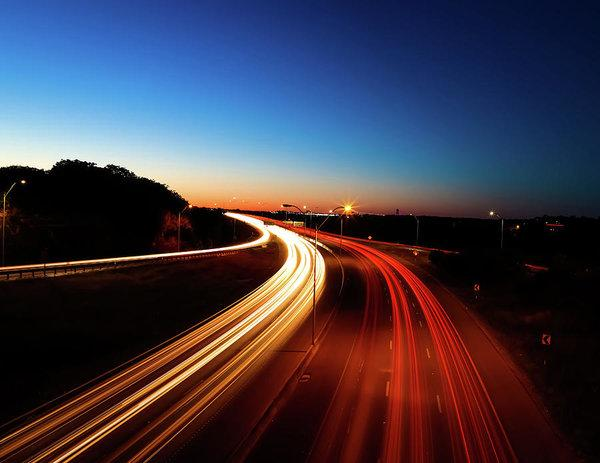 """Freeway Light Trails"" Prints and Products"