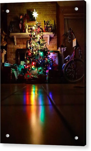 Christmas Tree on Christmas Eve - Acrylic Print