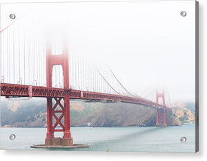 Foggy day at the Golden Gate Bridge - Acrylic Print
