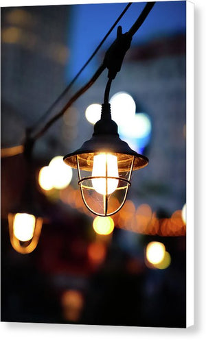 Lights by the sea - Canvas Print