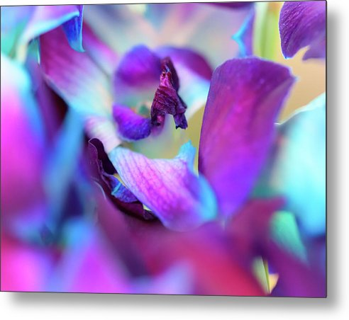 Watercolor Lilies  - Metal Print