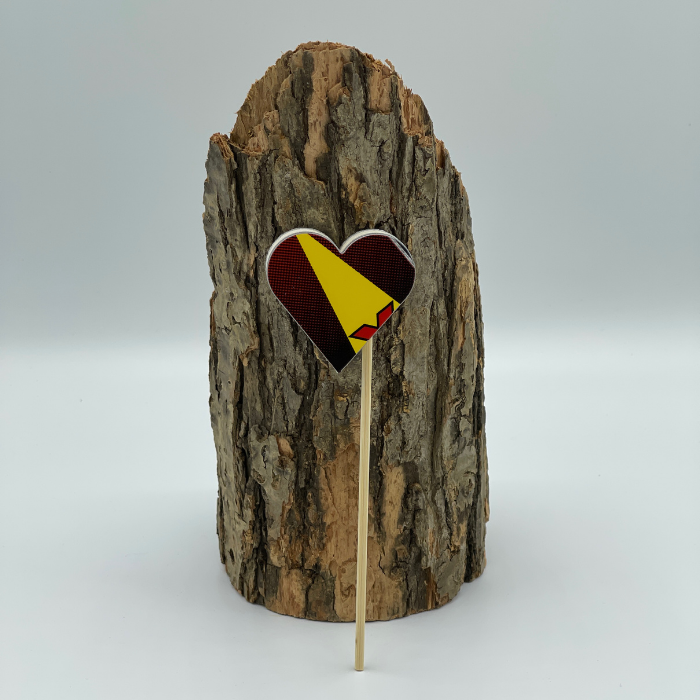 Upcycled Adam Ski Heart on a Stick