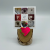 Birch Stand with Upcycled Cindy Ski Heart & Collage (Small)