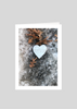 Heart Found in Leaves and Snow Greeting Card