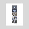 collage print original art hearts