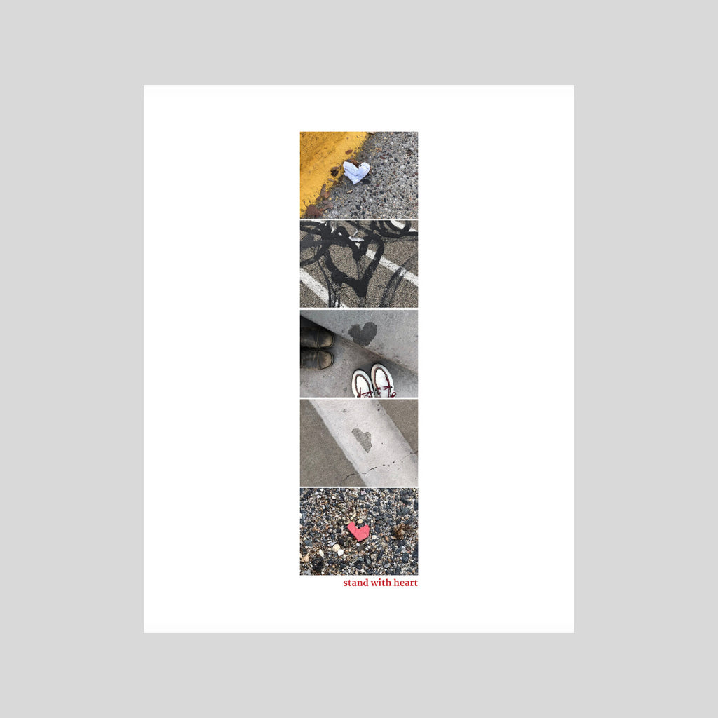 collage print original art hearts urban