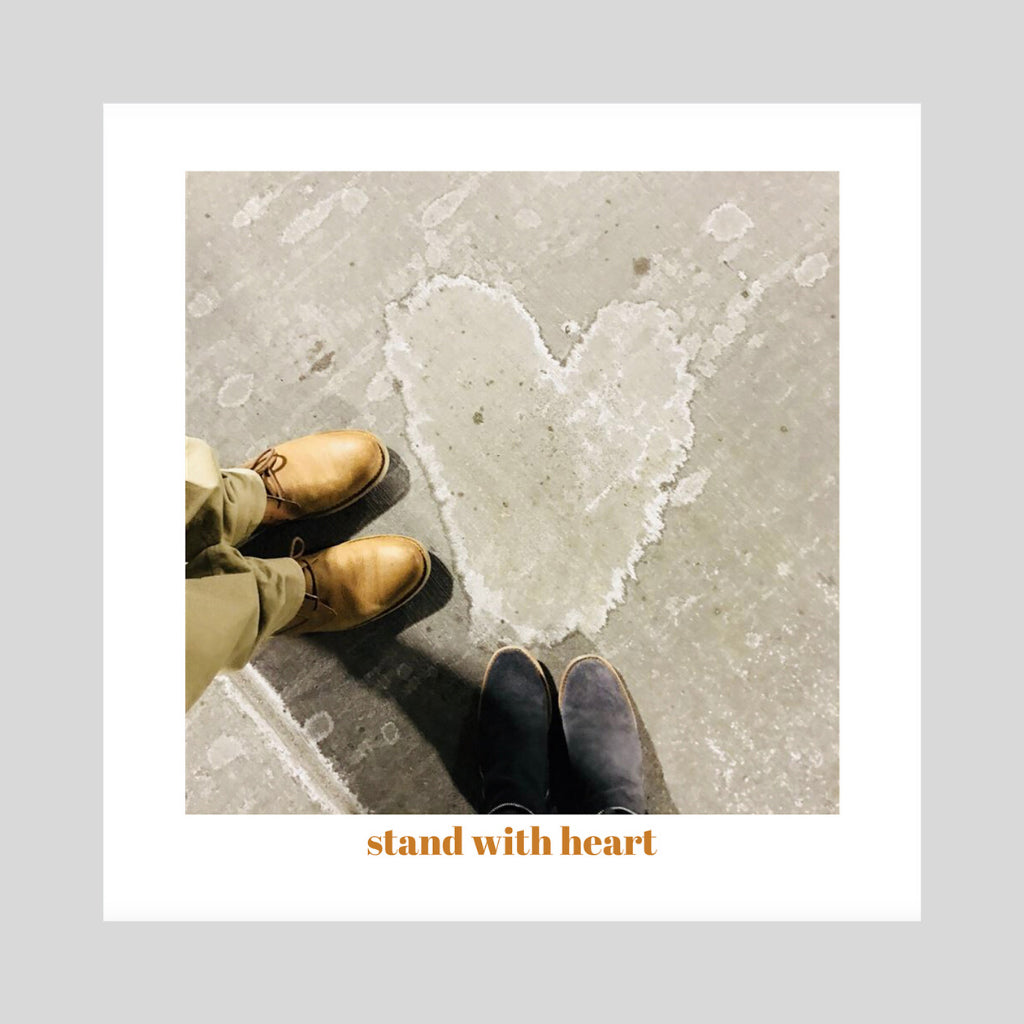 collage print original art hearts concrete feet urban