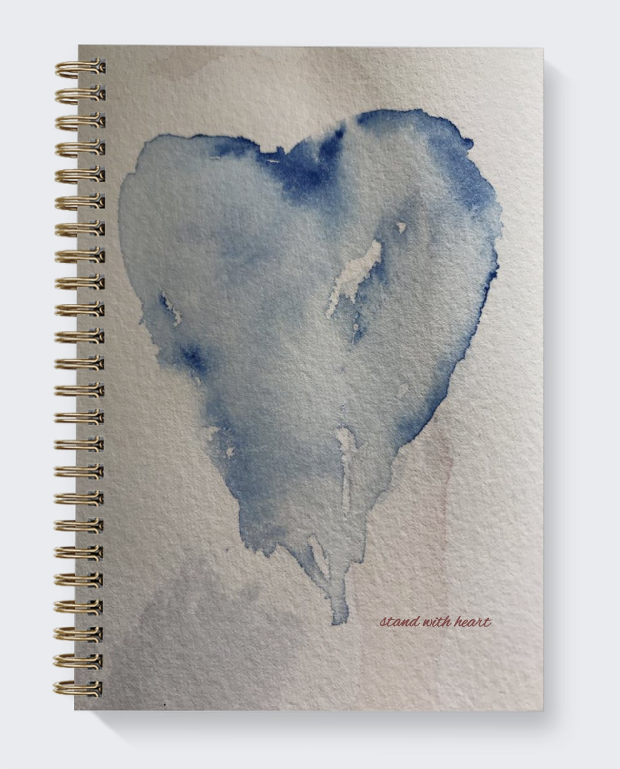 dot journal heart watercolor original stand with heart