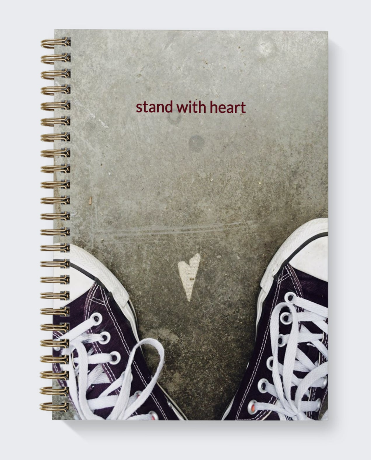 dot journal heart photography original stand with heart purple shoes