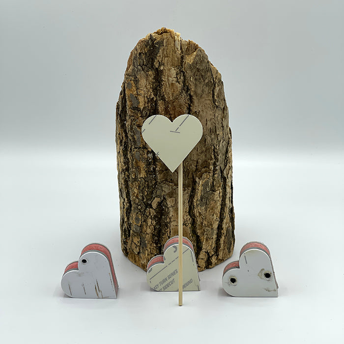Upcycled Grace Ski Heart on a Stick
