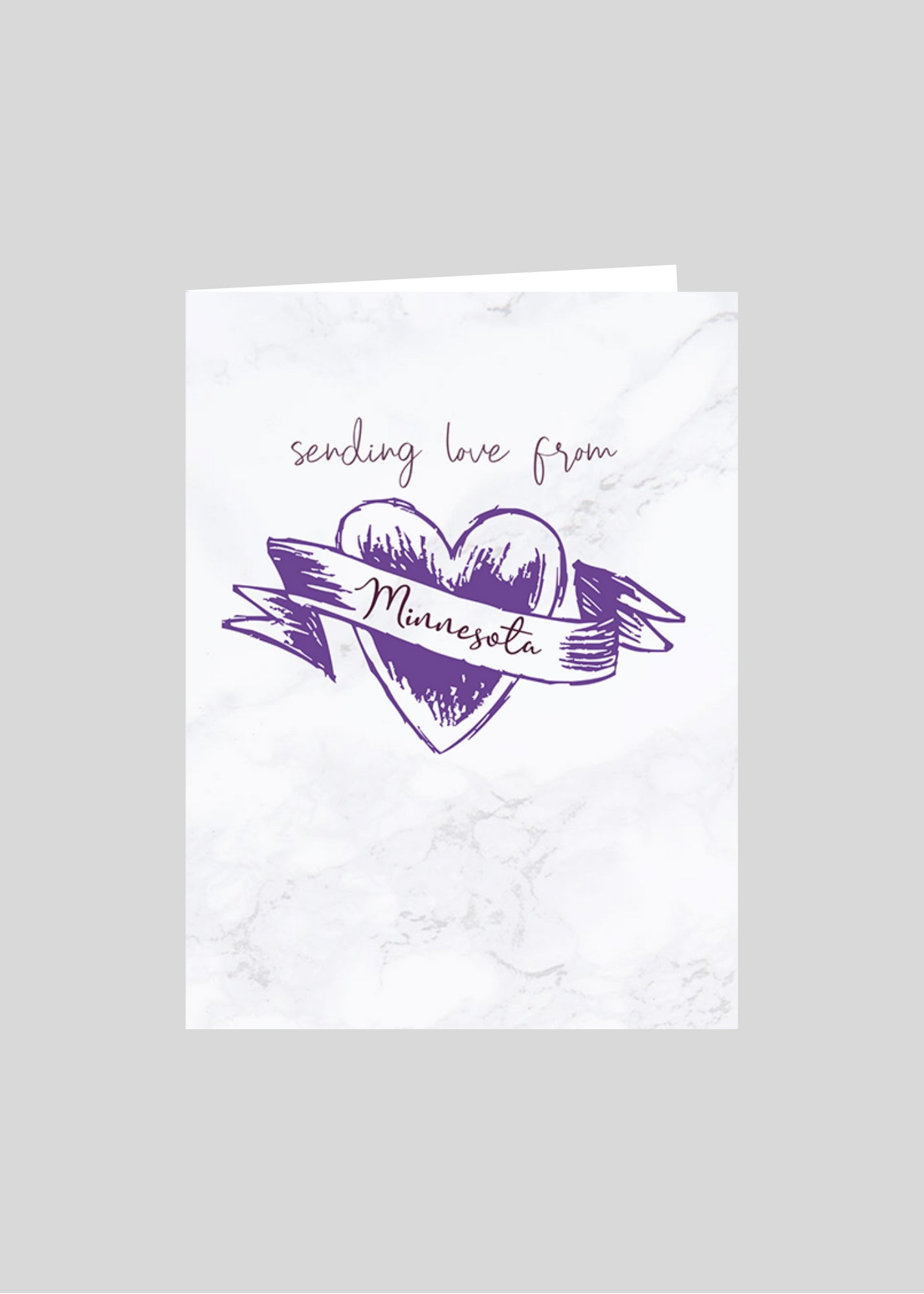 greeting card heart love minnesota