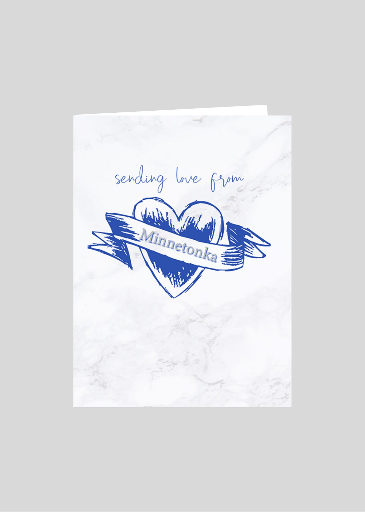greeting card heart love minnetonka