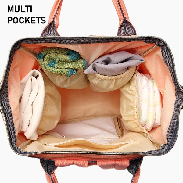 MaxMomma Green Bag multi pockets