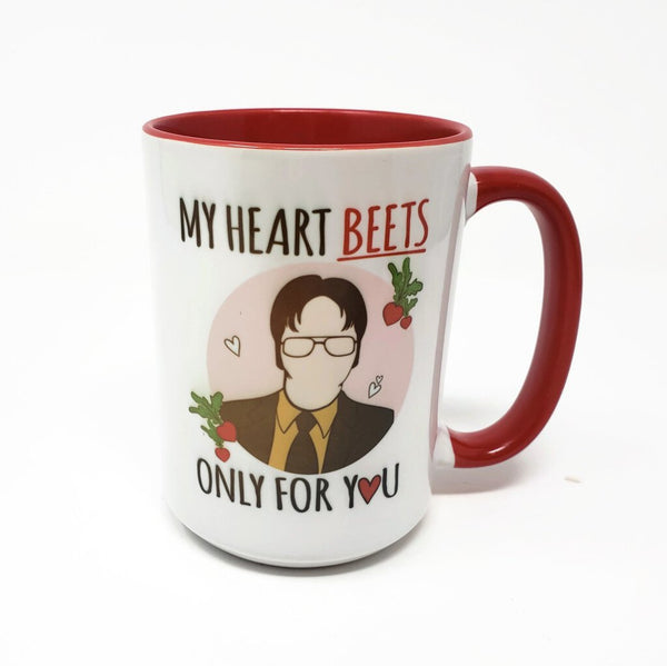 15 oz mug - Dwight - My Heart Beets for You