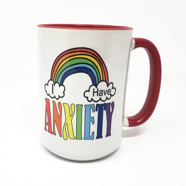 15 oz mug - I Have Anxiety