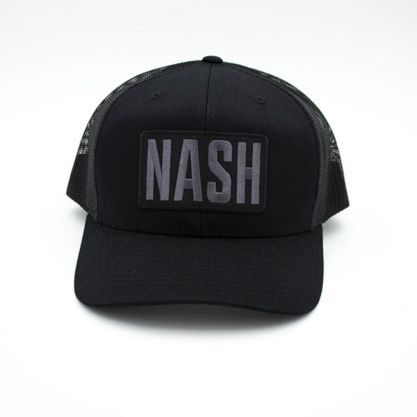 Nash Patch Trucker Hat - Black/Black