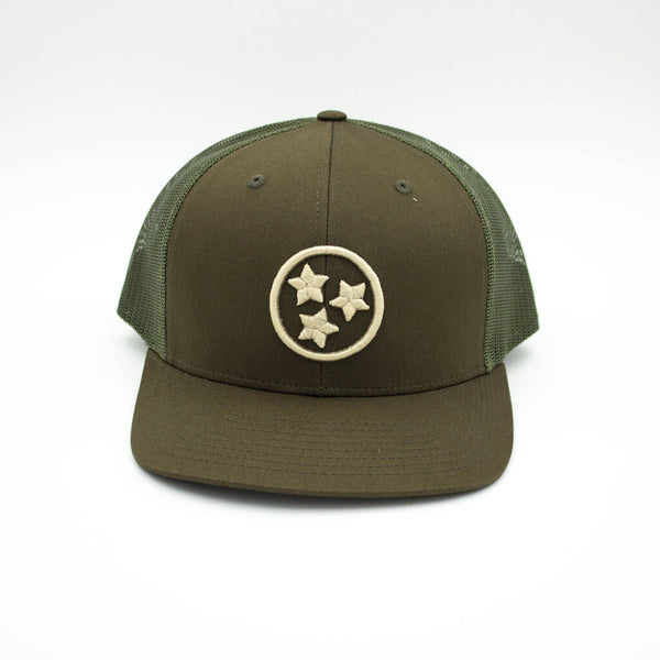 TRISTAR TRUCKER HAT - GREEN