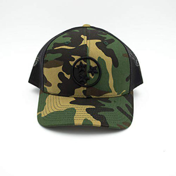 Tristar Trucker Hat - Camo/Black