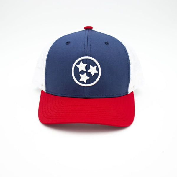 Tristar Trucker Hat - Red/White/Blue